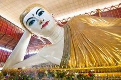 Sweet eyes buddha. In myanmar Royalty Free Stock Photos
