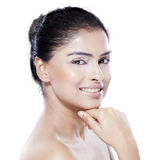 Sweet face of asian model in studio Royalty Free Stock Photos