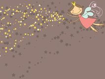 Sweet fairy and stars vector illustration