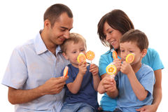 Sweet family Royalty Free Stock Photos