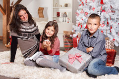 Sweet family at Christmas Royalty Free Stock Image