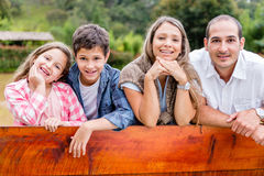 Sweet family outdoors Royalty Free Stock Photo