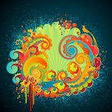 Sweet fantasy swirls. Royalty Free Stock Images