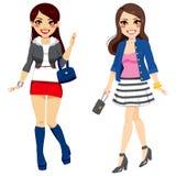 Sweet Fashionable Girls Stock Images