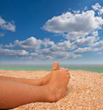 Sweet feet on the beach Royalty Free Stock Photo