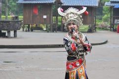 A sweet female folk singer Royalty Free Stock Photos
