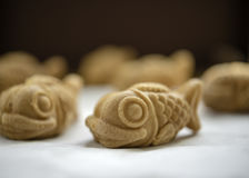 Sweet fish shaped pancake. Japanese traditional sweet fish shaped pancake- Taiyaki Stock Photos