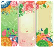 Sweet Floral Banners or Bookmarks royalty free illustration
