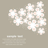 Sweet floral pattern card design Royalty Free Stock Images