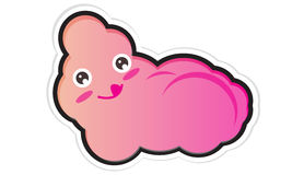 Sweet floss. A cartoon illustration of sweet yummy pink floss Royalty Free Stock Images