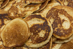 Sweet flour semolina pancakes pooray Royalty Free Stock Photo