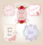 Sweet flower frame with copy space Stock Images