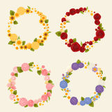 Sweet flower wreath card. Vector File EPS10 Stock Photo