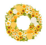 Sweet flower wreath card. Vector file EPS10 Stock Images