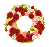 Sweet flower wreath card. Vector file EPS10 Stock Photography