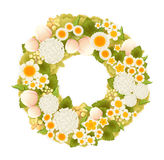 Sweet flower wreath card. Vector file EPS10 Royalty Free Stock Photography