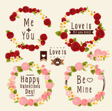 Sweet flower wreath card Royalty Free Stock Images