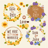 Sweet flower wreath card. Vector file EPS10 Stock Image