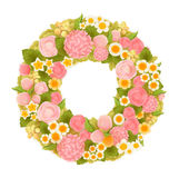 Sweet flower wreath. Vector file EPS10 Royalty Free Stock Photo