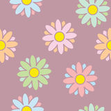 Sweet flowers seamless background. Vector stock illustration