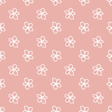 Sweet flowers seamless pattern Stock Photography