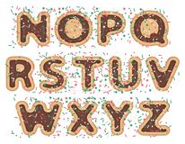 Sweet font alphabet Royalty Free Stock Images