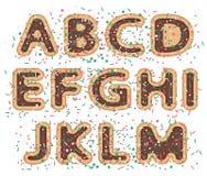 Sweet font alphabet Stock Photo