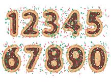 Sweet font numeral Stock Images