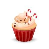 Sweet food chocolate creamy cupcake set  vector illustration Stock Photo