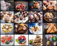Sweet food collage Royalty Free Stock Photo