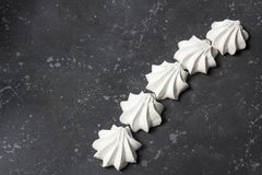 Sweet food. Delicious homemade meringues royalty free stock images