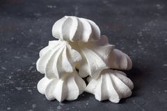 Sweet food. Delicious homemade meringues royalty free stock photos