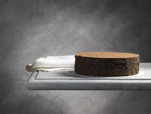 Sweet food dessert, chocolate cake. On a shelf of marble Royalty Free Stock Photos