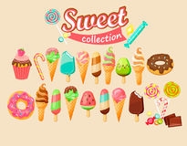 Sweet food icon collection. Set of Sweet food icon. Vector illustration vector illustration