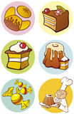 Sweet food objects Royalty Free Stock Images