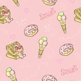 Sweet food pattern seamless. royalty free illustration