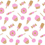 Sweet food pattern Royalty Free Stock Photos