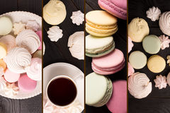 Sweet food photo collage Royalty Free Stock Image