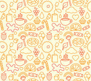 Sweet food seamless. Background. Vector Stock Photo