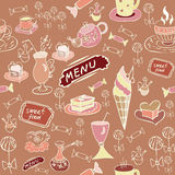 Sweet food. Seamless texture. Stock Photos
