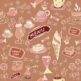 Sweet food. Seamless texture. Stock Photos