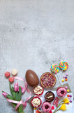 Sweet food selection for easter Royalty Free Stock Images