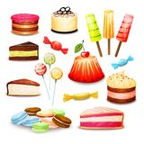 Sweet Food Set Stock Images