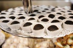 Sweet food on wedding Stock Images