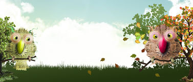 Sweet forest banner Stock Photography