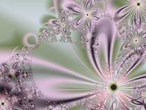 Sweet Fractal Flower Stock Photo