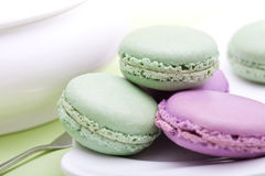 Sweet French cookies - macaroon Stock Photo