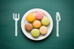 Sweet french macarons stock photography