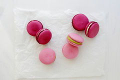 Sweet french macaroons top view Stock Photography