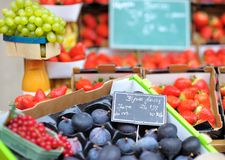 Sweet fresh bio figs and berry Royalty Free Stock Images